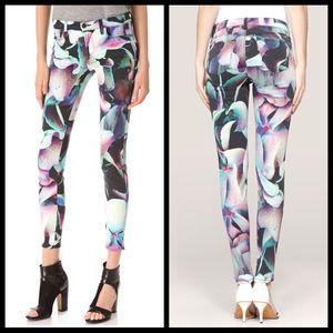 J Brand floral print watercolor skinny jeans